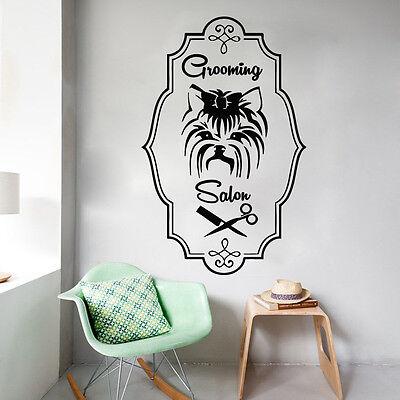 Wall Decals Grooming Salon Decal Vinyl Sticker Dog Pet Shop Bedroom MS536