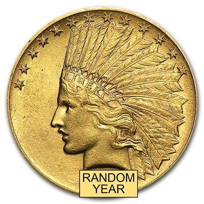 $10 Indian Gold Eagle AU (Random Year) - SKU #4026