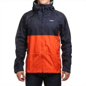 Patagonia Torrentshell Waterproof Jacket, S Navy/Paintbrush Red