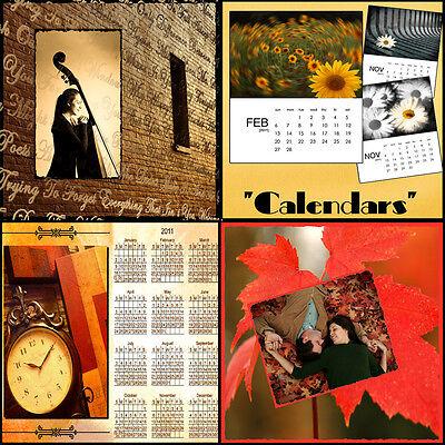 Digital Scenic Photo Backdrops Photoshop psd Calendar Templates Scrap Booking O