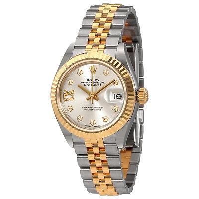Rolex Lady-Datejust Silver Diamond Dial Automatic Ladies Watch 279173SDRJ