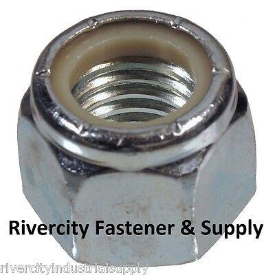 5 M7-1.0 7mm Metric Coarse Thread Nylon Insert Lock Nut Steel Din 985