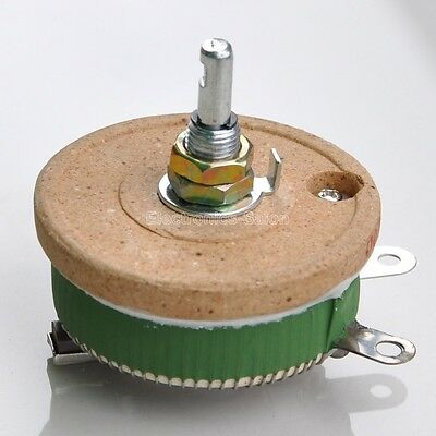 50w 100 Ohm High Power Wirewound Potentiometer Rheostat Variable Resistor.