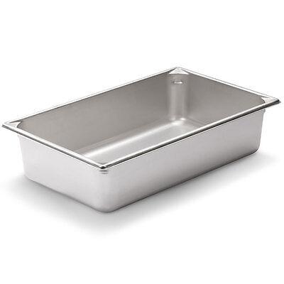 Steam Table Pan Full Size 4 Inch Deep Stainless Steel Anti Jamming - 24 Gauge