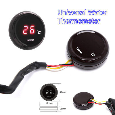 1x Universal Motorcycle Thermometer Instruments Water Temp Digital Display Gauge