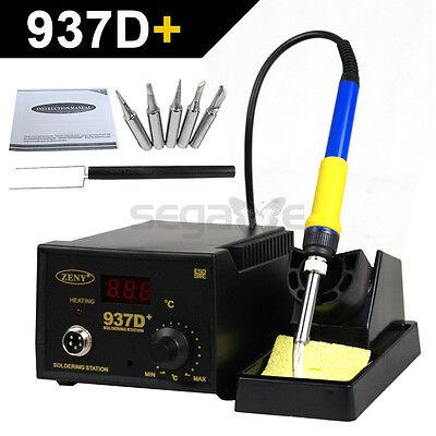 Rework Soldering Station Jp Heater Iron Welding Solder Smd Tool 5 Tips Esd 937d