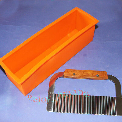 Pro. Soap Silicone Mold Loaf Wavy Stainless Steel Soap Cutter SLICER MAKES on Rummage