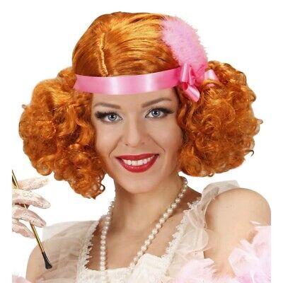 CHARLESTON PERÜCKE ROT mit Haarband 20er Jahre Damen - 20er Jahre Perücke