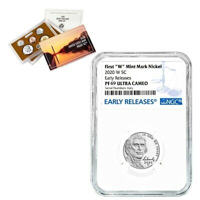 2020-W Jefferson Nickel NGC PF 69 ER (w/ 2020-S US Mint Proof 10-Coin Set)