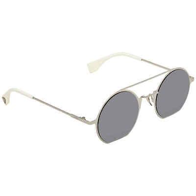Fendi Eyeline Silver Mirror Round Ladies Sunglasses FF 0291/S 010/DC 48