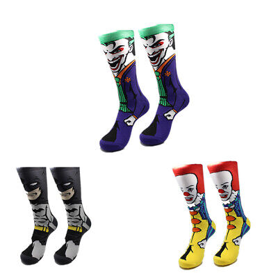 Batman Socks (Joke Laughing HAHA1 Pair casual Cotton Sock DC Comic Batman Crazy Villain)