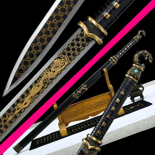 Battle Ready Chinese KungFu Dao Sword Sharp High Carbon Steel WuShu Han Jian Sab