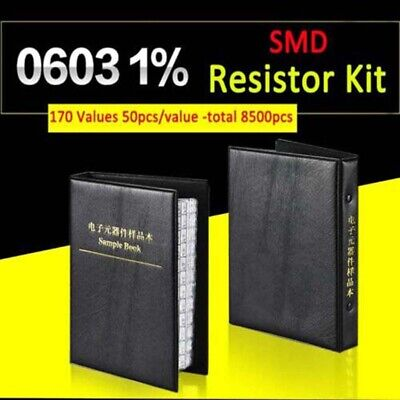 0603 Smd Resistor Sample Book 1 Component Assortment Kit 170 Values Each 50pcs