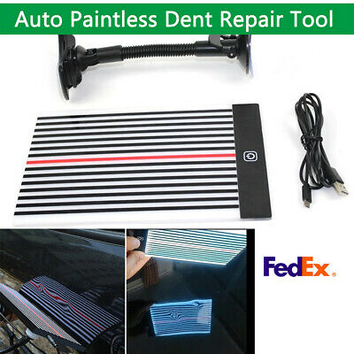 LED Reflector Line Board 2 Sides Light Scrach Paintless Dent Removal Body Scan