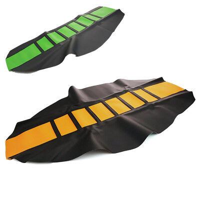 Universal Soft Motorcycle Seat Cover Skin Stripe Crotch Comfort Dirt Bike Enduro
