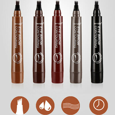Microblading Eyebrow Pen Waterproof 4 Fork Tip  Long Lasting Eye Brow Pencil