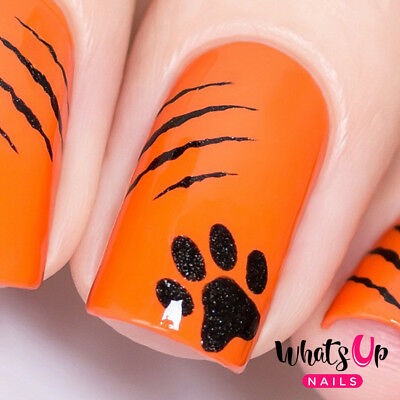 Kitty Scratch Stencils for Nails, Halloween Nail Stickers, Nail Vinyls - Stencils For Halloween