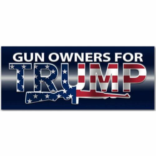Gun Owners For Donald Trump American Flag President 2020 Bumper Sticker