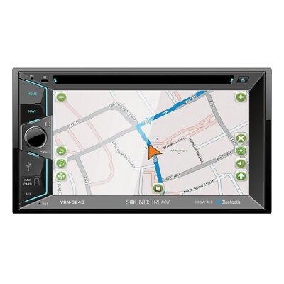 "Soundstream VRN-624B DVD/CD/MP3 Player 6.2"" Touchscreen GPS Navigation Bluetooth"