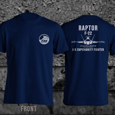 USAF Raptor F-22 Superior Fighter by Lockheed Martin Military T-Shirt F22 Raptor Fighter