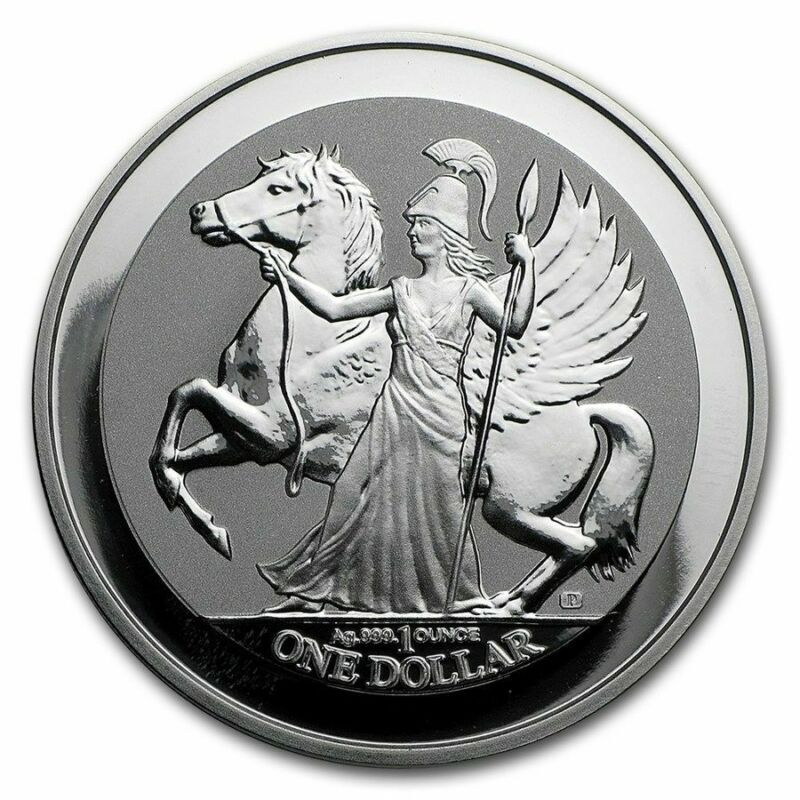 2017 1 oz British Virgin Islands $1 Reverse Proof Silver Pegasus (BU)