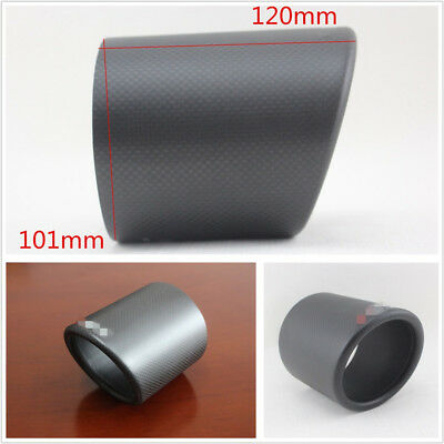 DIY Matte 101mm 100% Real Carbon Fiber Car Off-Road Exhaust Pipe Cover Universal
