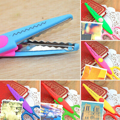 6 Shaped Edge Craft Pattern Scissors Waves Paper Cut Photos Scrapbook DIY -