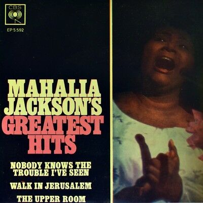 "7"" MAHALIA JACKSON Greatest Hits CBS Walk In Jerusalem EP Gospel Religious 1963"