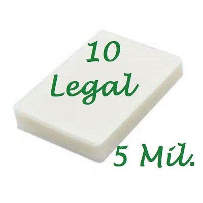10 Legal 5 Mil Laminating Pouches Laminator Sheets 9 X 14-12 Scotch Quality