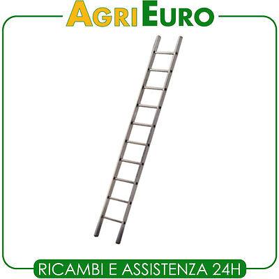 Scala in alluminio singola Facal Genia GS 350 semplice - 11 gradini - mt. 3,55