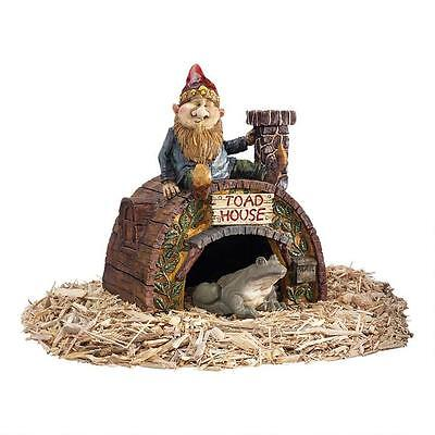 (Prime Real Estate 360 Degree Sculpted Arched Door Toad House Gnome Garden Statue)