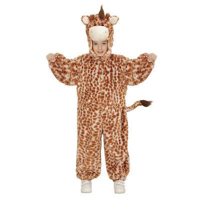 GIRAFFEN PLÜSCHKOSTÜM # Karneval Kinder Mädchen Plüsch Tier Zoo Kostüm 104 98106 ()