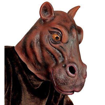 LATEX NILPFERD MASKE # Flusspferd Hippo Afrika Nilpferdmaske Kostüm Deko - Fluss Kostüm