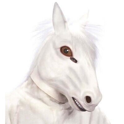 LATEX PFERDE MASKE Pferdemaske Schimmel Gaul Hengst Tier - Latex Tier Kostüme