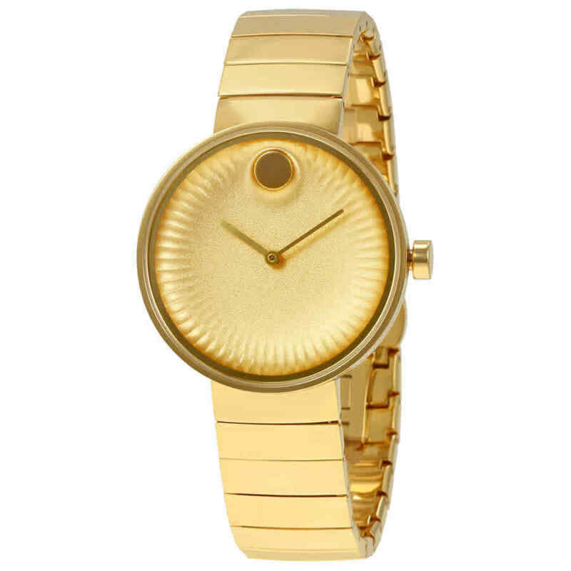 Movado Edge Yellow Gold Aluminum Dial Ladies Watch 3680014