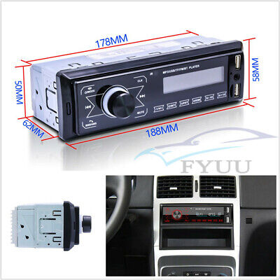 12V 1Din LCD Autos Radios Stereo Remote Control Bluetooth MP3 Player USB/TF/AUX Mp3 Player Tempo Control