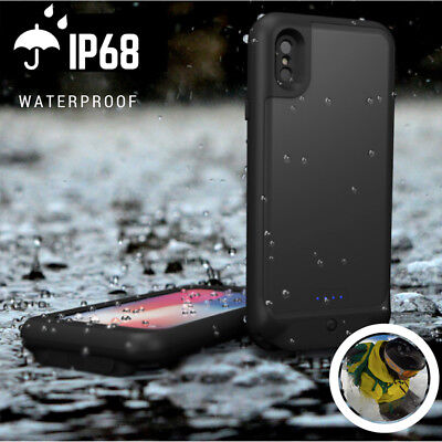 Rechargeable Backup Battery (Rechargeable Waterproof Battery Power Charging Backup Case Cover For iPhone XR)