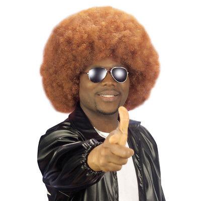 ROT-BRAUNE AFROPERÜCKE Karneval Fasching Hippie Afro Perücke Kostüm Party 06822