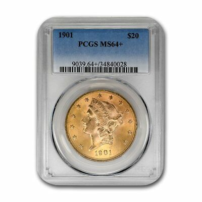 1901 $20 Liberty Gold Double Eagle MS-64+ PCGS - SKU#157016