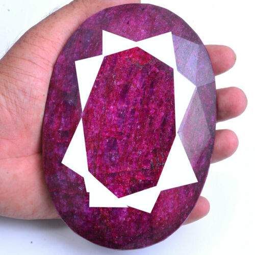 3660 Cts Natural Red Beryl Museum Size Oval Faceted Cut Loose Certified Gemstone