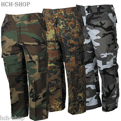 Kidswear US BDU Kinderhose lang Cargo Tarnhose camouflage Feldhose 110 bis 170