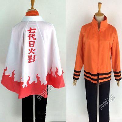 Naruto Outfits (Naruto 7th Hokage Naruto Uzumaki Outfit Uniform Full Set Cosplay)