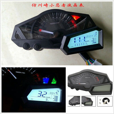 LCD DISPLAY 1 6 STALLS LED BACKLIGHT MOTORCYCLES SPEEDOMETER ODOMETER