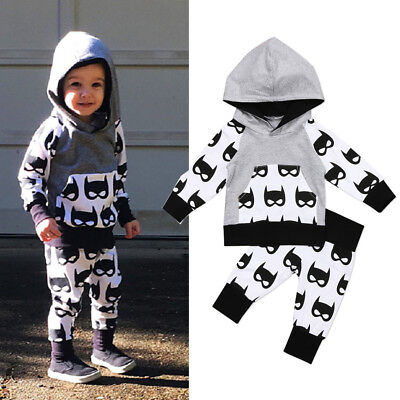 Baby Batman Outfit (USA Kids Toddler Baby Boys Batman Hooded Tops Coat Pants Outfits Clothes)