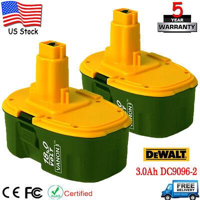 2X For DeWALT DC9096-2 18V 18-Volt 3.0Ah XRP Ni-Cd Battery DC9098 Cordless Drill