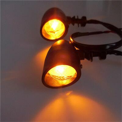 2Pcs Universal Motorcycle Turn Signal Indicator Blinker Amber LED Light Lamp 12V