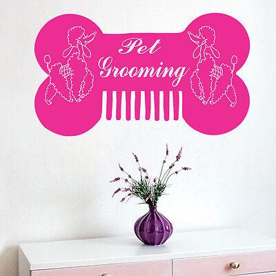 Wall Decal Pet Grooming Decal Vinyl Sticker Dog Pet Shop Bedroom Art Mural MS272