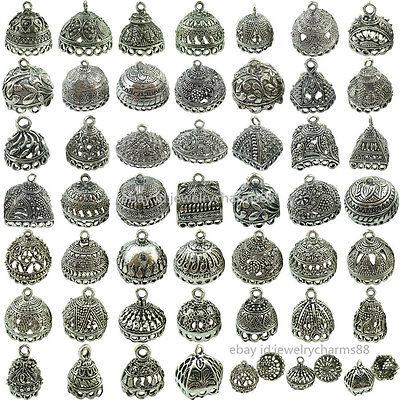 Retro Vintage Free Ship (2pcs Retro Vintage Silver Filigree Pendant Crafts Tassel Jewelry Ends Cap )