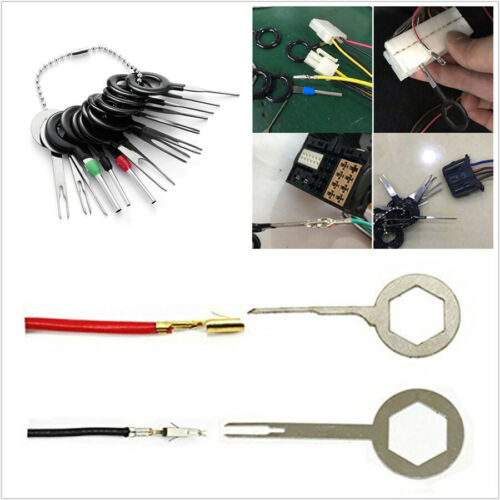 14 Pcs/Set ATV Scooter Wiring Terminal Connector Pin Extractor Puller Repair Kit