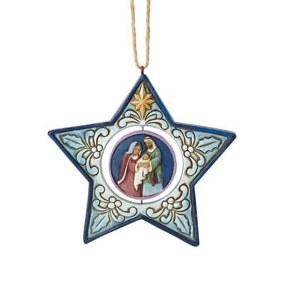 Jim Shore NATIVITY STAR New 2018 STAR SHAPED NATIVITY ORNAMENT 6001521 W/DISC